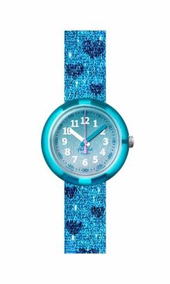 Flik Flak Kids' 2004 Pool in Miami Swiss Quartz Watch with Textile Strap