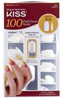 Kiss Products 100 Full Cover Nails,0.24 Pound