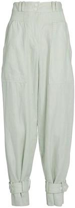 Zimmermann Glassy Slouch Linen Army Pants