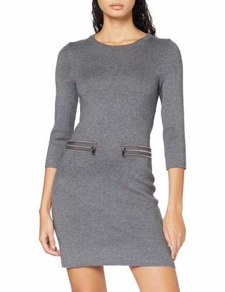 Morgan Women's Robe Tricot Droite Detail Zip Rmkujo Casual Dress