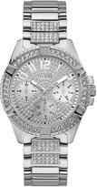 GUESS Lady Frontier Silver Crystal Set Multi Dial Stainless Steel Bracelet Ladies Watch