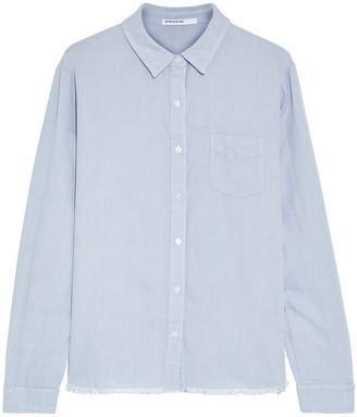 Stateside Frayed Basketweave Cotton Shirt
