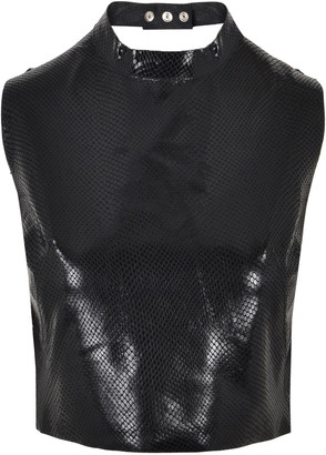 Manokhi Carrie Exotique leather top