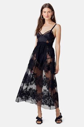 For Love & Lemons Black Azalea Maxi Dress