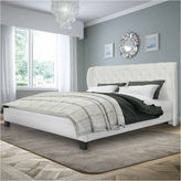 Asstd National Brand Fairfield Tufted Leather Bed