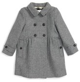 Burberry Infant Girl's 'Coraline' Double Breasted Wool Blend Coat