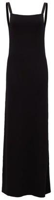 Matteau The Square Knit Scoop-back Maxi Dress - Black