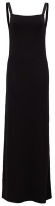 Matteau - The Square Knit Scoop-back Maxi Dress - Womens - Black