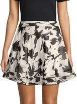 Moon River Women's Printed Mini Skirt