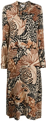 By Malene Birger Abstract-Print Shirt Dress