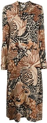 By Malene Birger Abstract-Print Shirt Dress