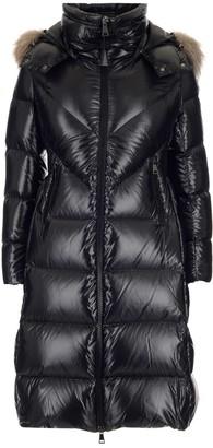 Moncler Fur Trim Hooded Coat