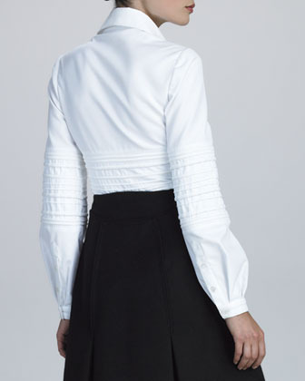 Ralph Rucci Quilted Pique-Knit Shirt