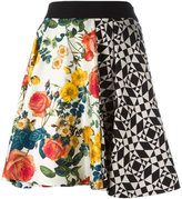 Fausto Puglisi Gonna Geometrica Fiori skirt - women - Silk/Viscose/Spandex/Elastane/Acetate - 40