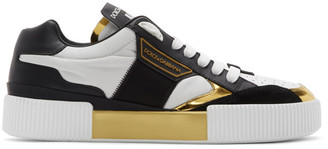Dolce & Gabbana Black and White Logo Sneakers