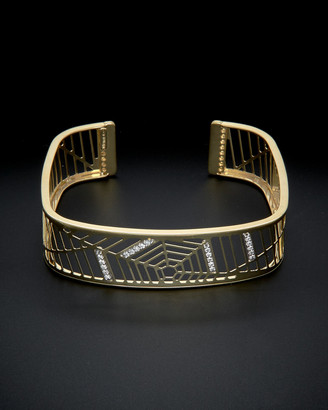 Italian Gold 18K 0.25 Ct. Tw. Diamond Cuff