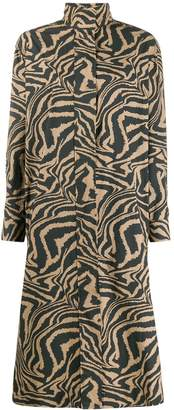 Ganni Tiger Print Smock Dress