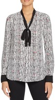 NYDJ Abstract Print Tie Neck Blouse - 100% Bloomingdale's Exclusive