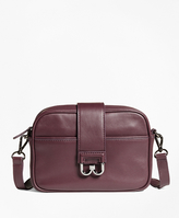 Brooks Brothers Leather Bridget Crossbody Satchel