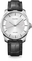 Calvin Klein Collection Alligator Strap Stainless Steel Automatic Watch