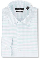 Kenneth Cole New York Slim-Fit Stretch Spread Collar Checked Dress Shirt