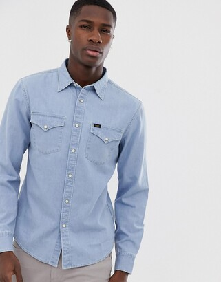 Lee Jeans Western denim shirt-Blue