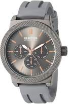 Kenneth Cole Reaction Men's 'Sport' Quartz Metal and Silicone Casual Watch, Color: (Model: 10031943)