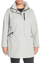 Kristen Blake Plus Size Women's Crossdye Hooded Soft Shell Jacket (Plus Size)