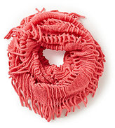 Copper Key Girls Open-Knit Fringe Infiinity Scarf