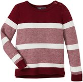 Vince Kids Stripe Sweater (Baby) - Merlot/Cloud-18 Months