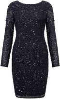 Adrianna Papell Long sleeve sequin cocktail dress