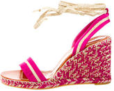 Marc Jacobs Raso Seta Wedge Sandals