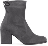 Stuart Weitzman Shorty Stretch-suede Ankle Boots - Gray