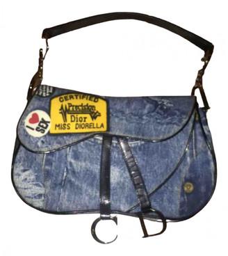 Christian Dior Double Saddle Blue Denim - Jeans Handbags