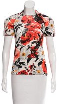 Balenciaga Floral Semi-Sheer Top
