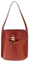 Chloé Aby Leather Bucket Bag - Womens - Dark Brown