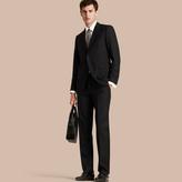 Burberry Classic Fit Wool Part-canvas Suit , Size: 54r, Black