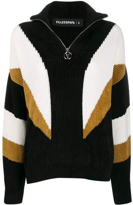 Filles a papa zipped knitted jumper