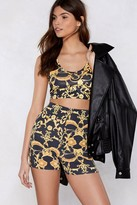 Nasty Gal Crop Them Out Baroque Shorts