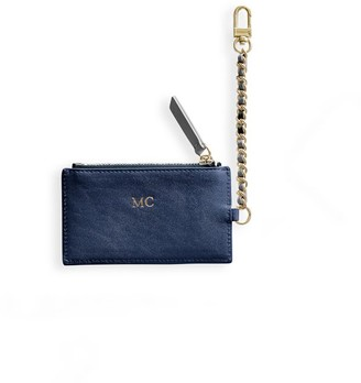 Mark And Graham Chain Strap Leather ID Card Case