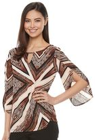 Dana Buchman Women's Textured Keyhole Top