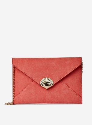 Dorothy Perkins Womens Coral Shell Clutch Bag, Coral
