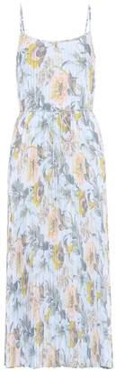 Vince Floral pleated slip dress