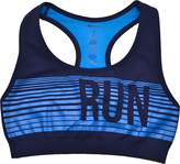 Ideology Womens Striped Racerback Sports Bra (Med 10-12)