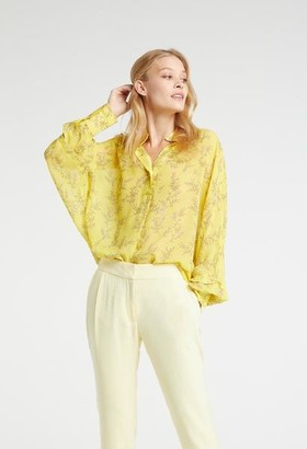 Ya-Ya Blouse With Wide Sleeves Cuffs And Flower Print - 12