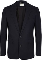 Oliver Spencer Navy Cotton And Wool Blend Jacket