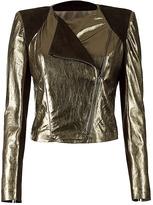 FENDI Smoke Metallic Leatherjacket