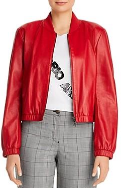 Giorgio Armani Emporio Leather Bomber Jacket
