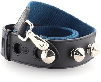 Fendi Adjustable Shoulder Strap Zucca Canvas with Studded Leather