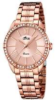 Lotus Women's Quartz Watch with Rose Gold Dial Analogue Display and Stainless Steel Rose Gold Plated Bracelet 18132/2
